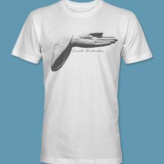 Camiseta Braço do Cristo Redentor branca tamanho G