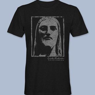 Camiseta Cristo Redentor 6 preta gola redonda,  tamanhos PP / P / M / G / GG / XG