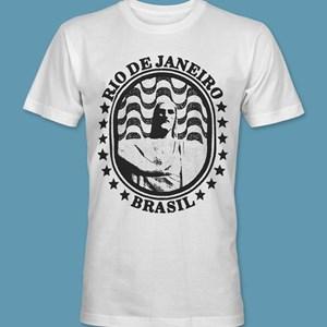 Camiseta Cristo Redentor 4 branca gola redonda,  tamanhos PP / P / M / G / GG / XG